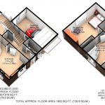 3D Colour Furnished Floor Plan